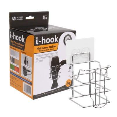 i-hook Hair Dryer Holder
