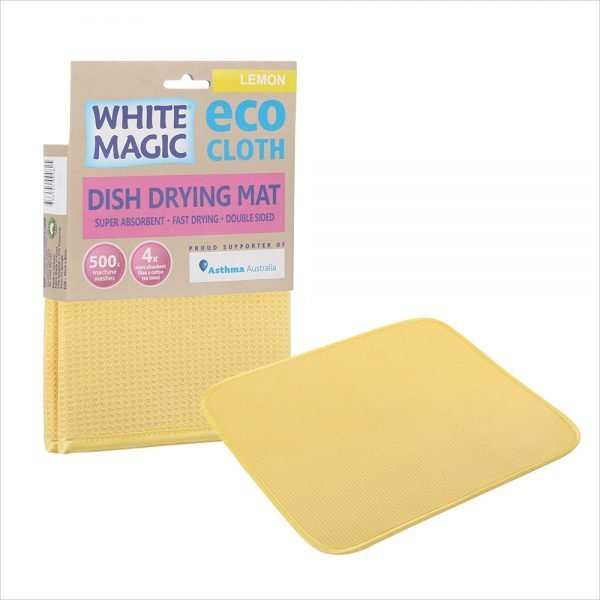 White Magic Dish Drying Mat Lemon