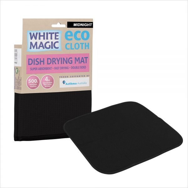 White Magic Dish Drying Mat Midnigt