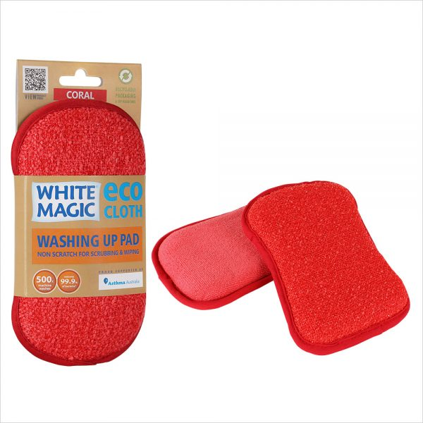 White Magic Washing Up Pad Coral