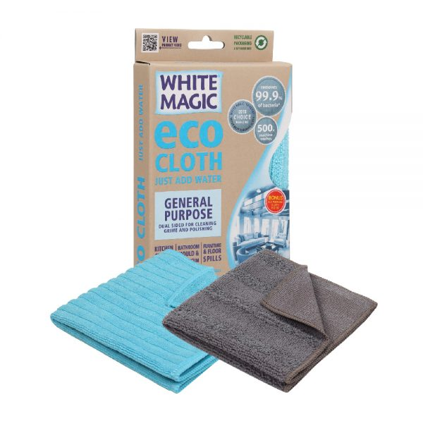 White Magic Eco Cloth General Purpose with Bonus Cloth