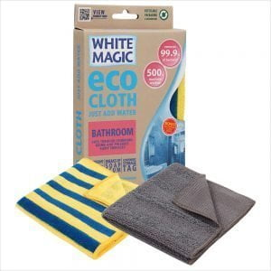 White Magic Bathroom Cloth with Bonus Cloth