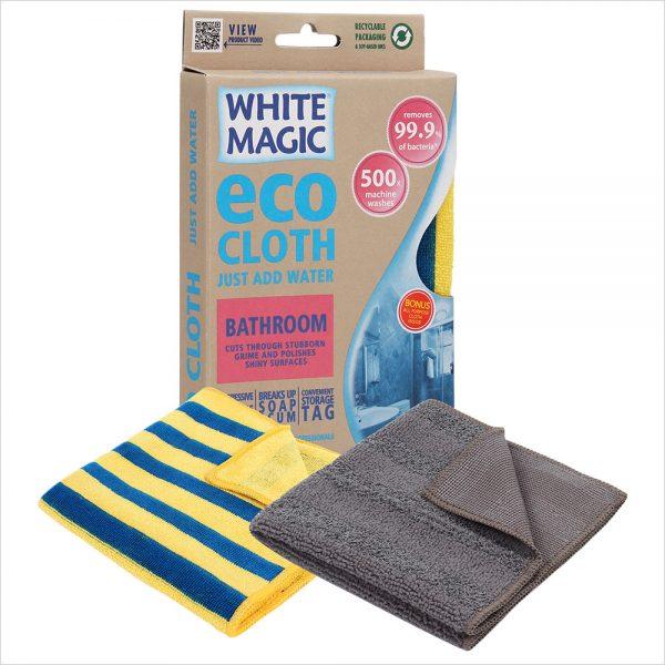 White Magic Bathroom Cloth with Bonus Cloth