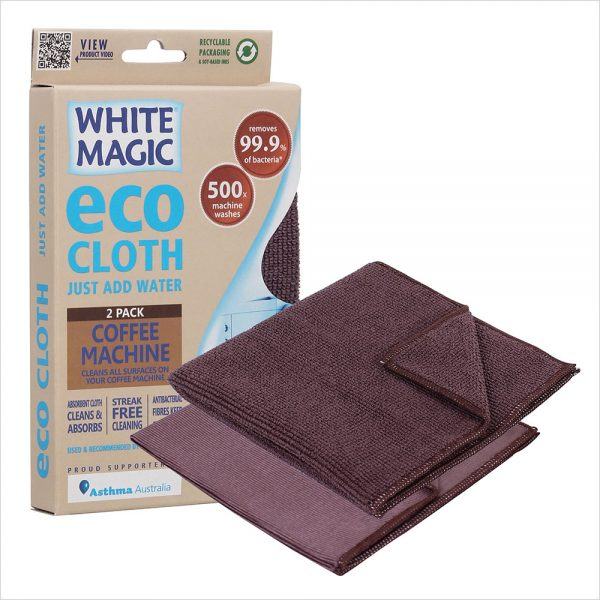White Magic Eco Cloth Coffee Machine 2PK