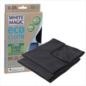White Magic Eco Cloth Screen and Lens