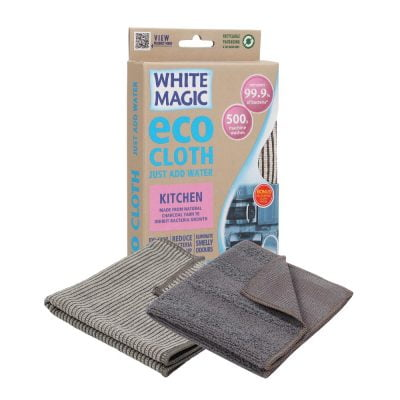 White Magic Microfibre Eco Cloth Kitchen with Bonus Cloth
