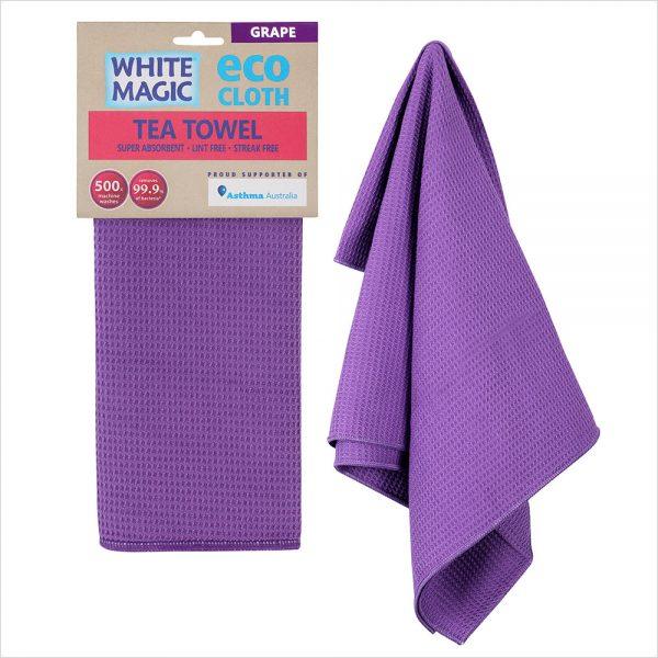White Magic Tea Towel Grape