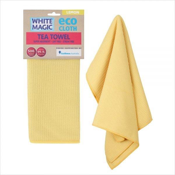 White Magic Tea Towel Lemon