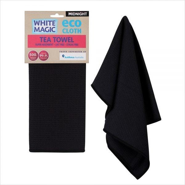 White Magic Tea Towel Midnight