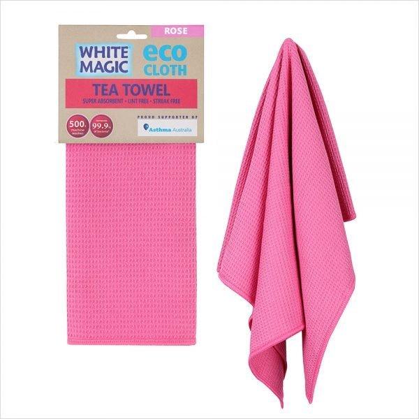 White Magic Tea Towel Rose