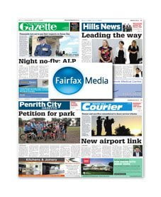 Blue Mountains Gazette / Hills News / Penrith City Gazette / Rouse Hill Courier – April 2016