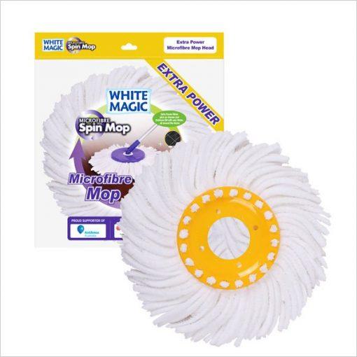 Extra Power Microfibre Mop Head | White Magic