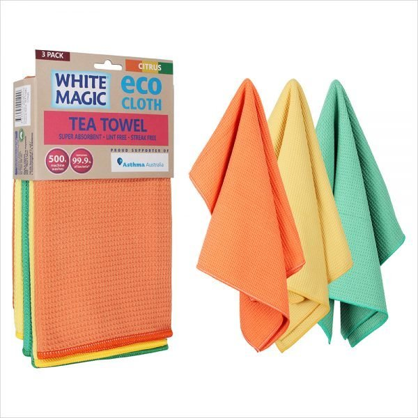 White Magic Tea Towel 3 Pack Citrus