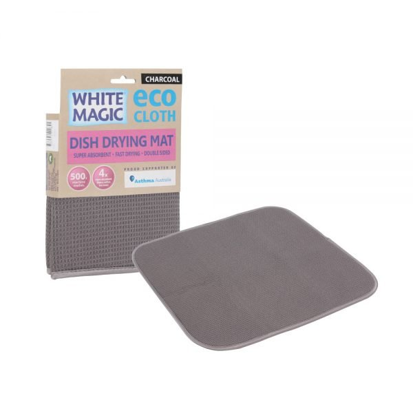 White Magic Dish Drying Mat Charcoal