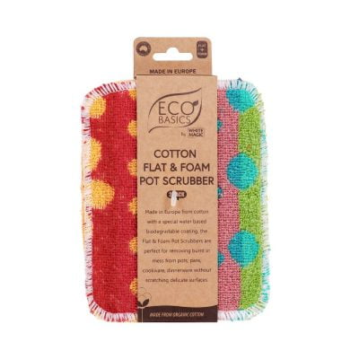 Eco Basics Cotton Flat Foam Pot Scrubber 02