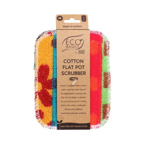 Eco Basics Cotton Flat Pot Scrubber