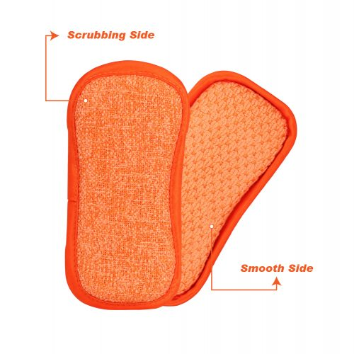 New Recycled Washing Up Pad Tangerine