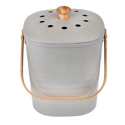 Eco Basics Kitchen Compost Waste Bin 6L Granite