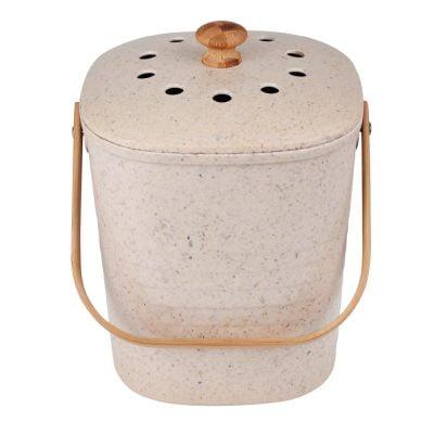 Eco Basics Kitchen Compost Waste Bin 6L Pebble
